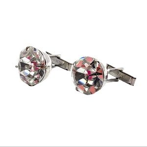 VTG 1960s Harvey Avedon Clear Rhinestone CuffLinks